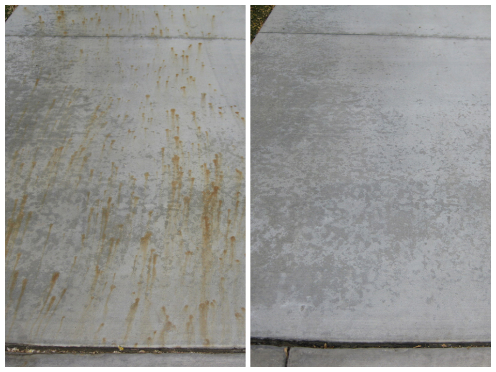 Rust removal denver great results denver pressure for Clean rust off concrete patio